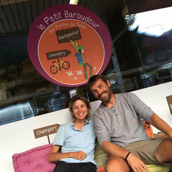 Tour des Dents Blanches - Céline Globetrekkeuse et moi au Petit Baroudeur Backpacker de Champéry