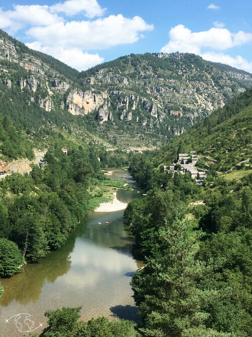 Hautes Rives - vue du sentier des Gorges du Tarn