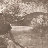 1959- A mesterséges halastón átvezető híd, még a báró idejéből való. Forgó Béla
