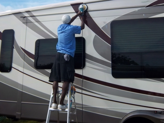 RV Buffing Detailing In Tampa Bay