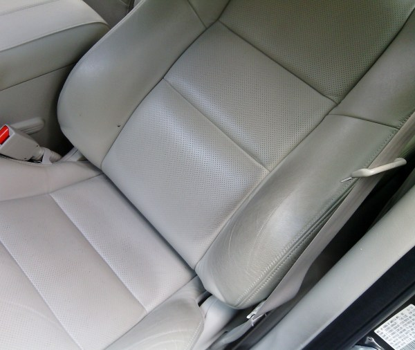 leather interior upholstery before detailing