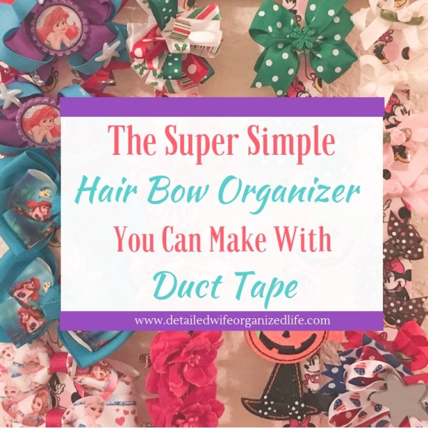 How to Make A Hair Bow Organizer with Duct Tape