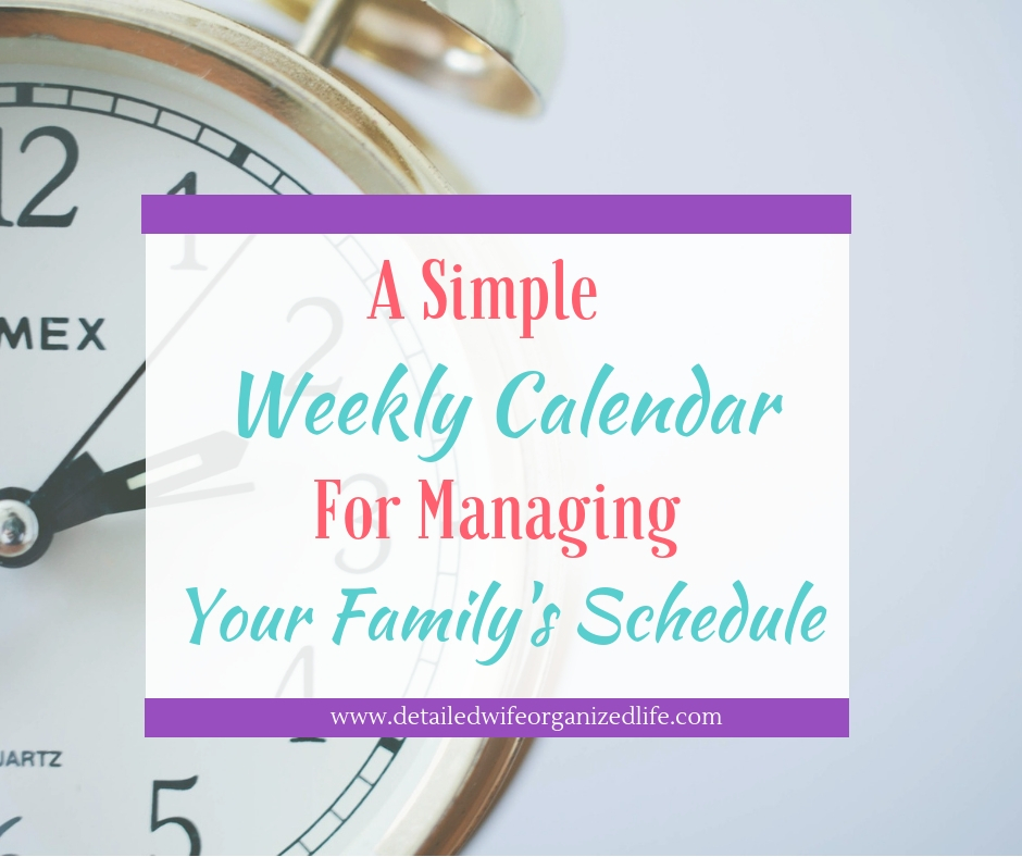 Weekly Family Calendar