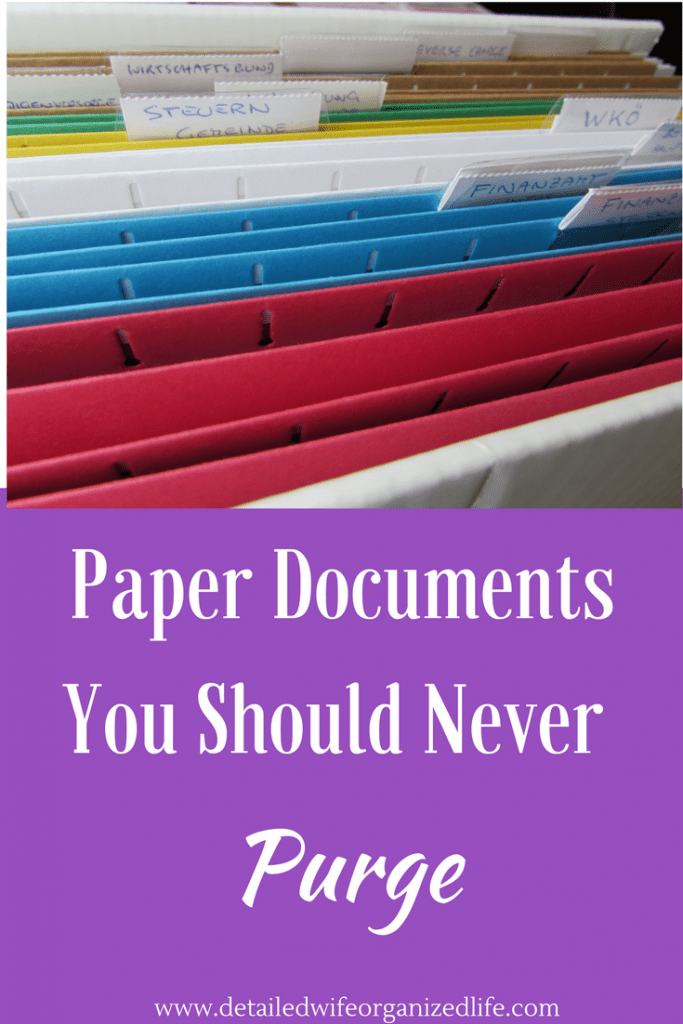 Paper Documents You Should Never Purge