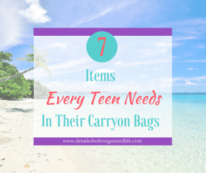 7 Items Every Teen Needs in Their Carryon Bags