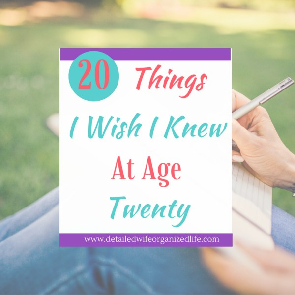 20 Pieces of Advice I Would Tell My 20 Year Old Self