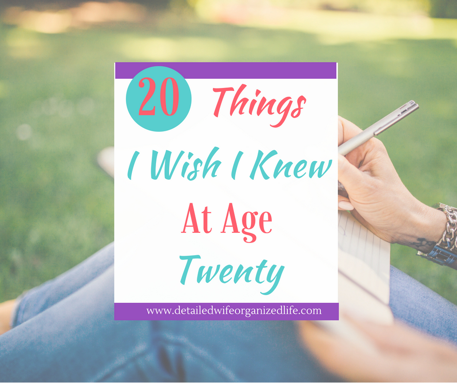 20 Pieces of Advice I Would Give My 20 Year Old Self