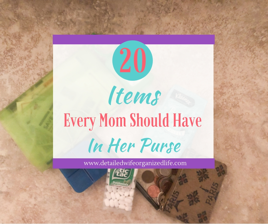20 Items Every Mom Should Have In Her Purse