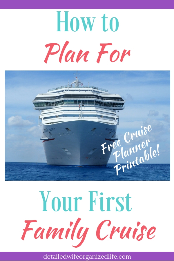 How to Plan For Your First Family Cruise