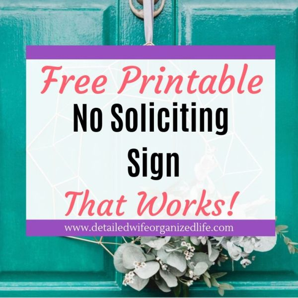 Free Printable No Soliciting Sign That Works!