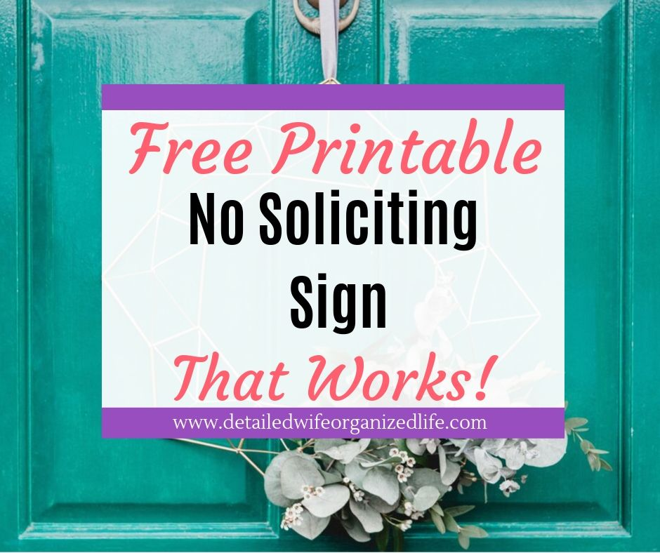 Free Printable No Soliciting Sign That Works