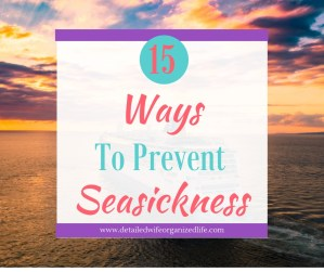 15 Ways to Prevent Seasickness