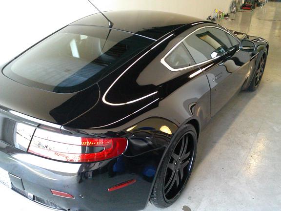 San Diego Mobile Car Detail on Black Aston Martin