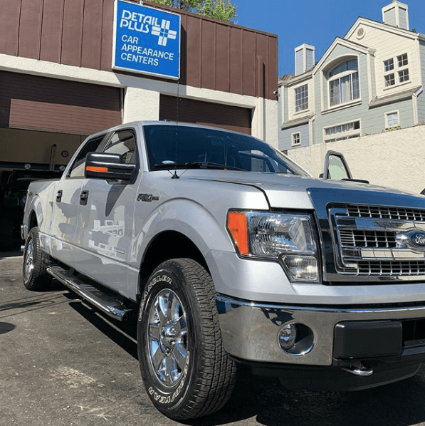 Big shiny truck after detail at Detail Plus in Sunnyvale, California