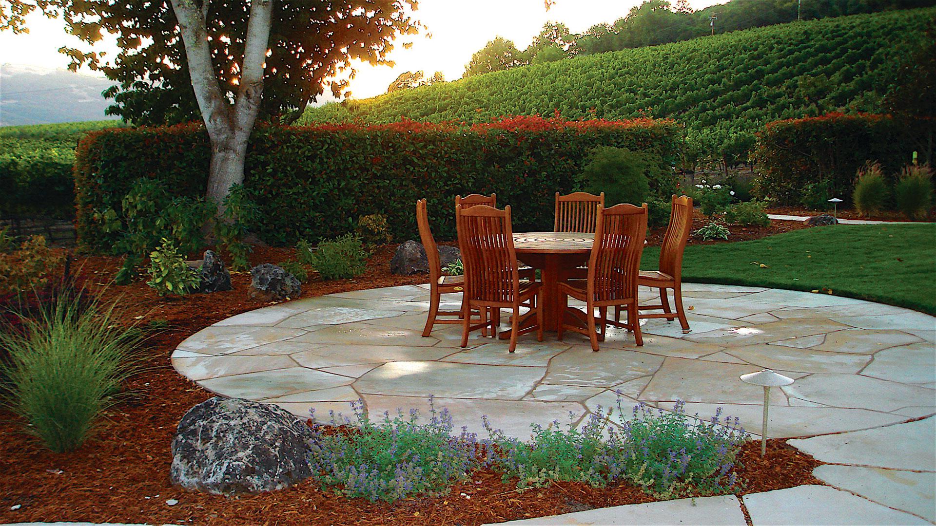 Walkways and Patio Design define your garden's shape on Patio Shape Designs id=14686