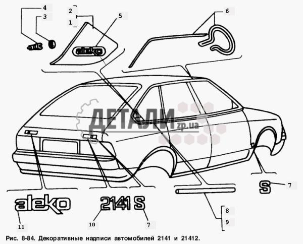 Принадлежности на Москвич-2141 – купить на ДЕТАЛИ.zp.ua
