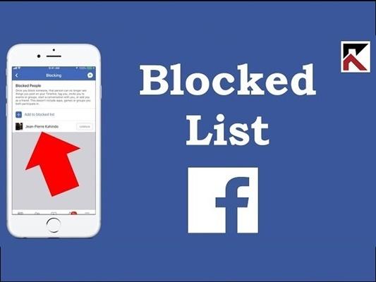 blocked list on Facebook