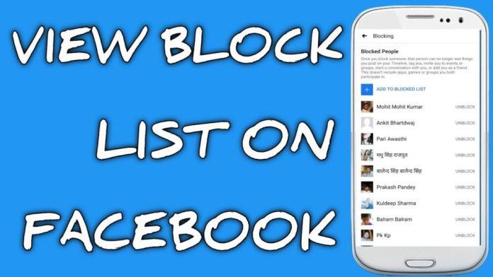 Blocked List On Facebook App