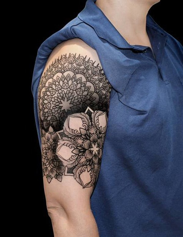 Geometric Flower Tattoo Sleeve: 25+ Best Example Of Geometric Tattoo Idea