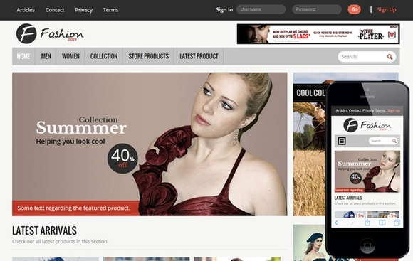Fashion Store - website templates
