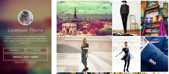 Lookbook - Beautiful Free Tumblr Themes 2014