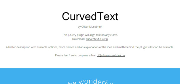 CurvedText