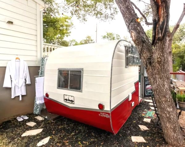 Transformed 1962 vintage camper motel