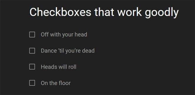 Delightful Checkbox Animation