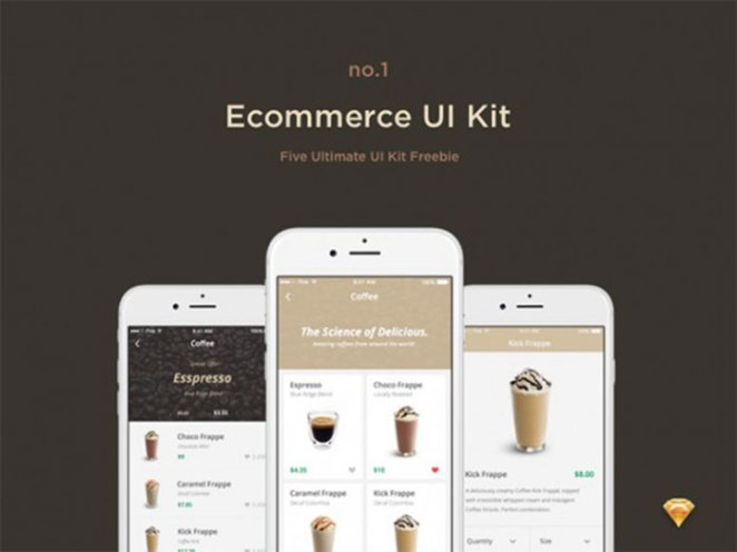 E-commerce free UI kit