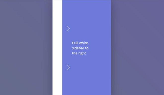 Elastic SVG Sidebar Material Design