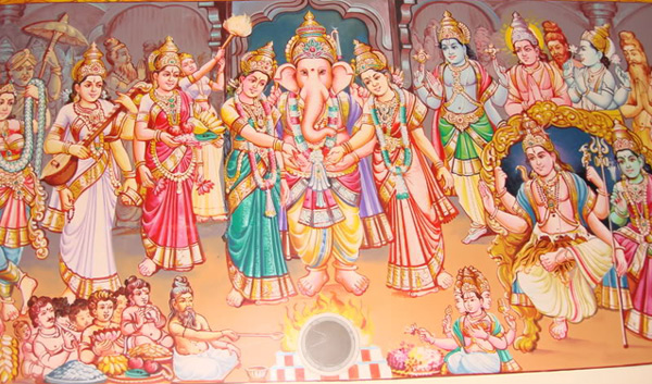 Worshiping Lord Ganesha before the beginning of any good work