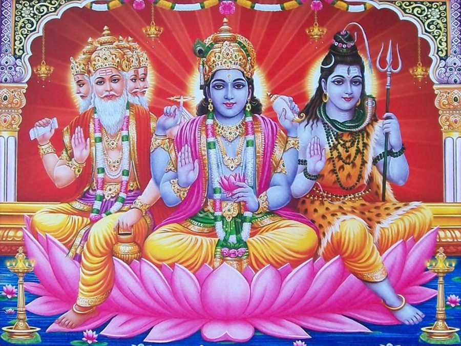 An explanation to the Symbols of the Trinity of Hindu Deities