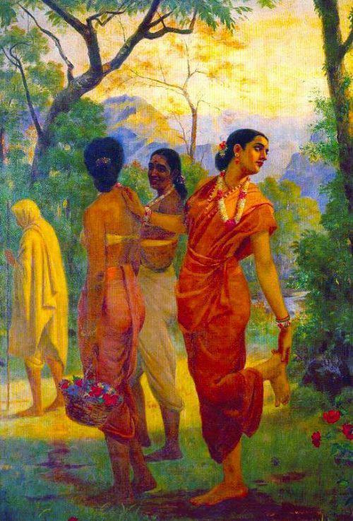 Shakuntala – Raja Ravi Verma Art
