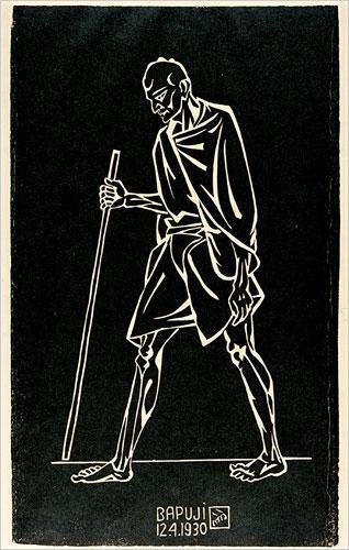 Bapuji – Nandlal BoseArt
