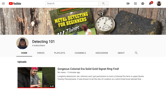 Detecting 101 YouTube channel