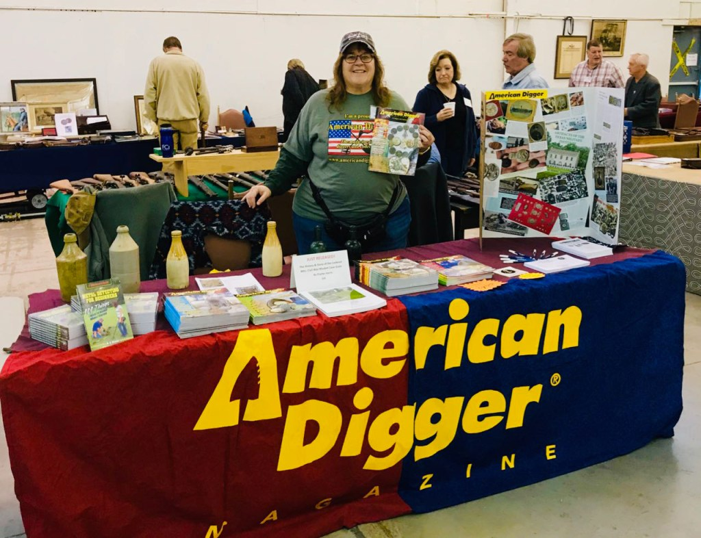 Author Mary Shafer at the 2018 Civil War and Militaria Show in Gettysburg, PA