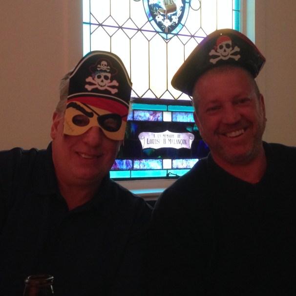 Jeff & John getting into the Pirate theme