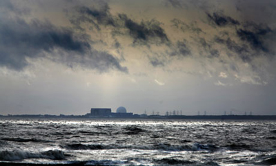 nuclear sites risk of flooding and coastal erosion : Sizewell nuclear power plant Southwold Suffolk