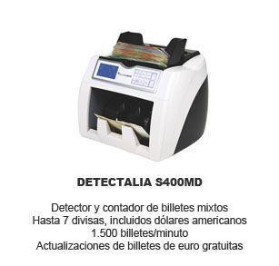 detectalia s400md - contador y detector billetes