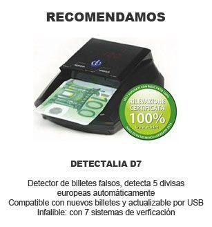 mejor detector de billetes falsos - Detectalia d7