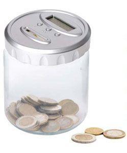 hucha con contador de monedas digital