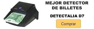 Comprar mejor detector de billetes Detectalia D7