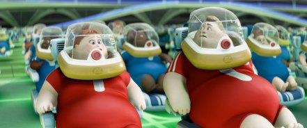 Pixarovská vízia ľudstva v budúnosti z filmu Wall-E