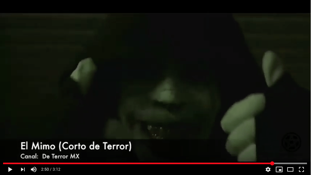 El Mimo – Corto de Terror