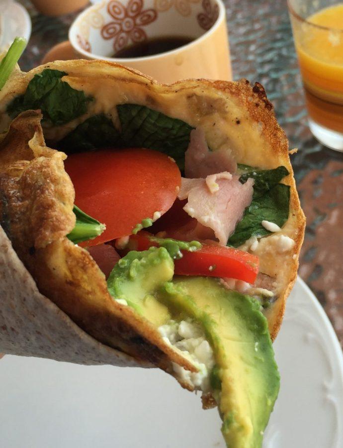 Omelettrull med serranoskinke
