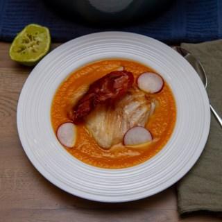 Gulrotsuppe med torsk og fennikel