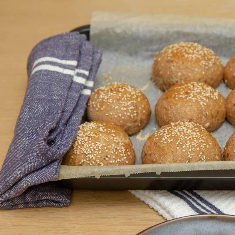 Kaldhevede rundstykker til frokost