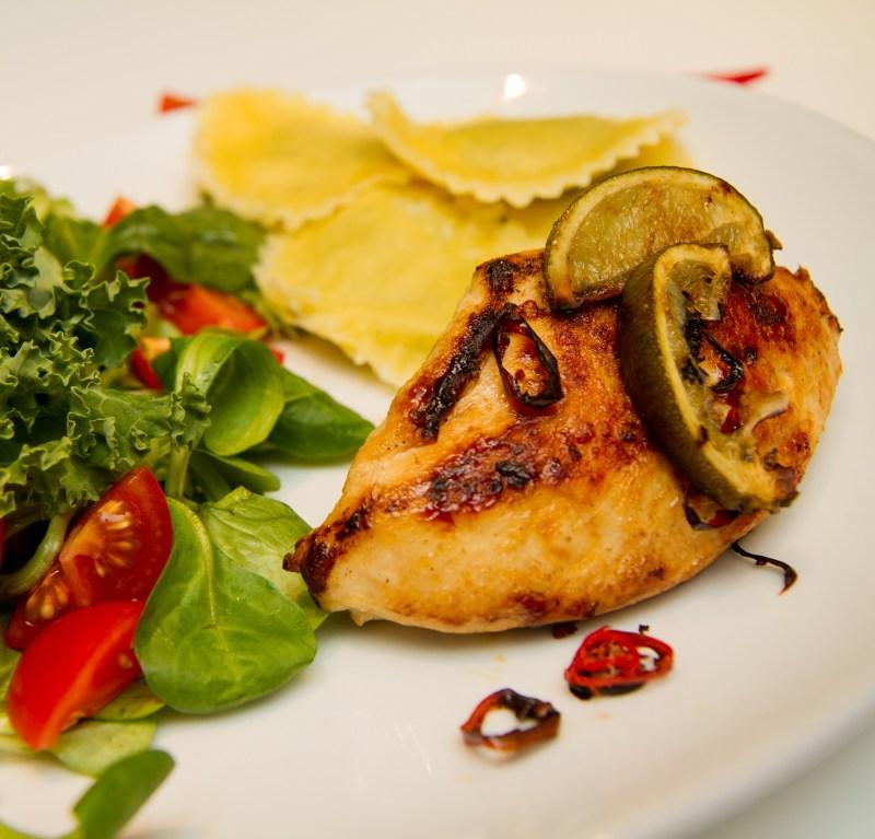 Chili og limestekt kylling med gran penzotti