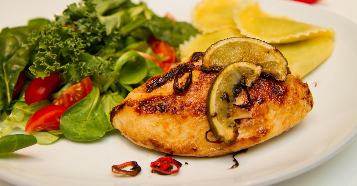 Chili og limestekt kylling med gran penzotti - galleri