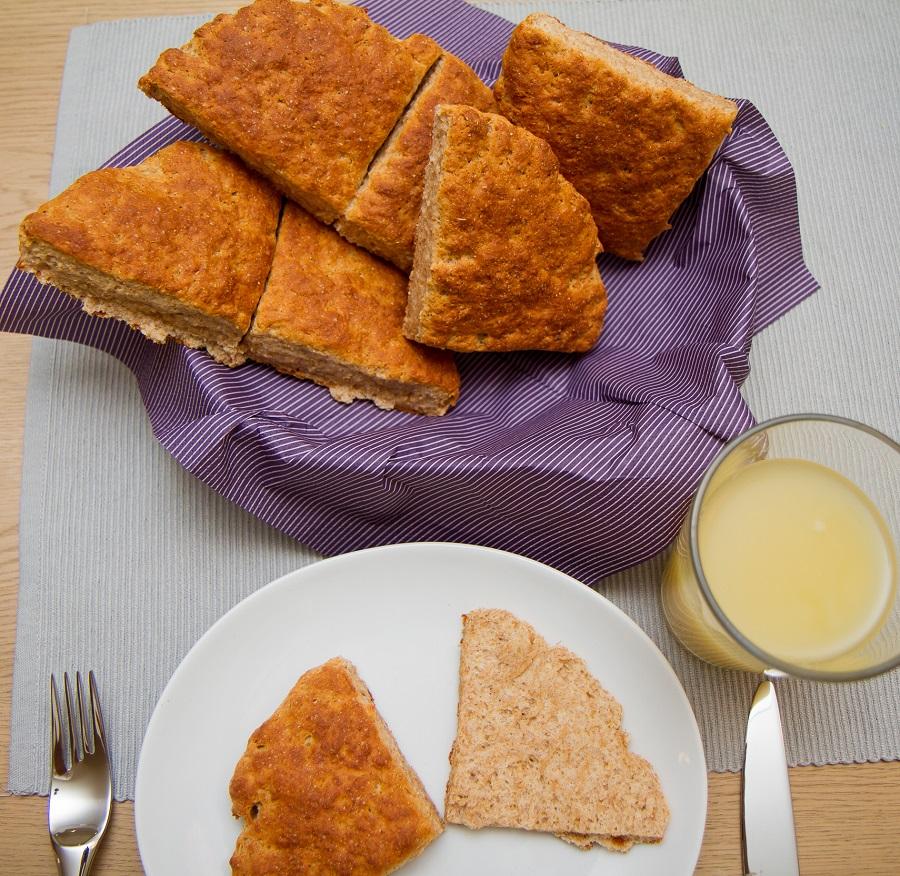 Grove scones til frokost